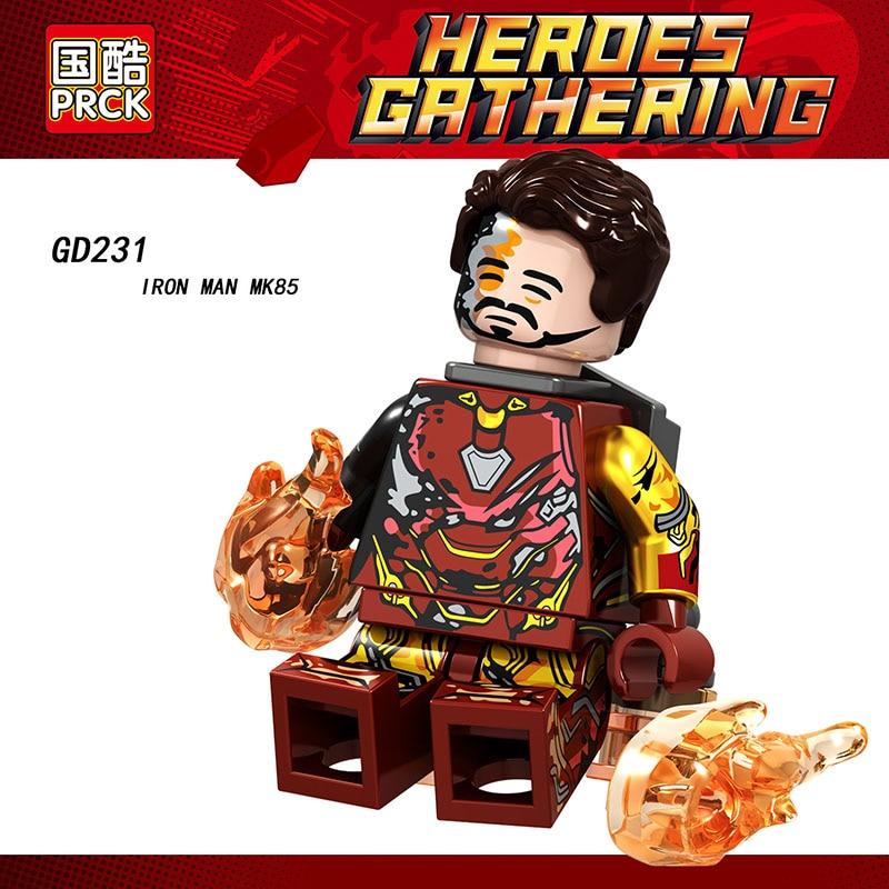 Single Sale Super Heroes Avengers MiniFigured Iron Man Mk22 Mk85 Mk41 Mk50 Blocks Bricks Dolls Toys Kids Christmas Gifts GD231