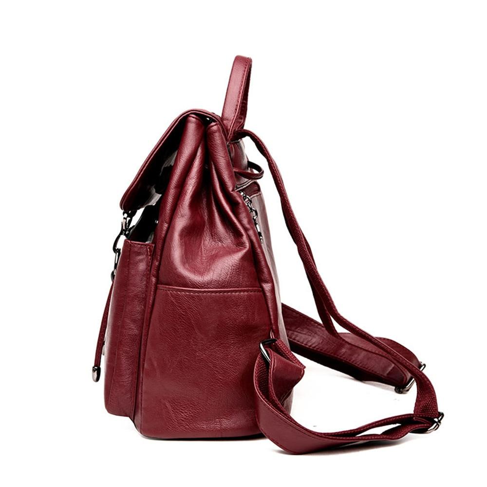 Image 3 - Bagpack Luxury Women Backpack Genuine Leather Backpacks for  Teenage Girls Female School Shoulder Bags For Women 2019 Mochila  SacBackpacks