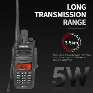 Image 3 - 2 piezas RETEVIS IP67 Walkie Talkie impermeable RT6 5 W 128CH VHF UHF FM Radio VOX de alarma SOS profesional de dos forma de la estación de Radio