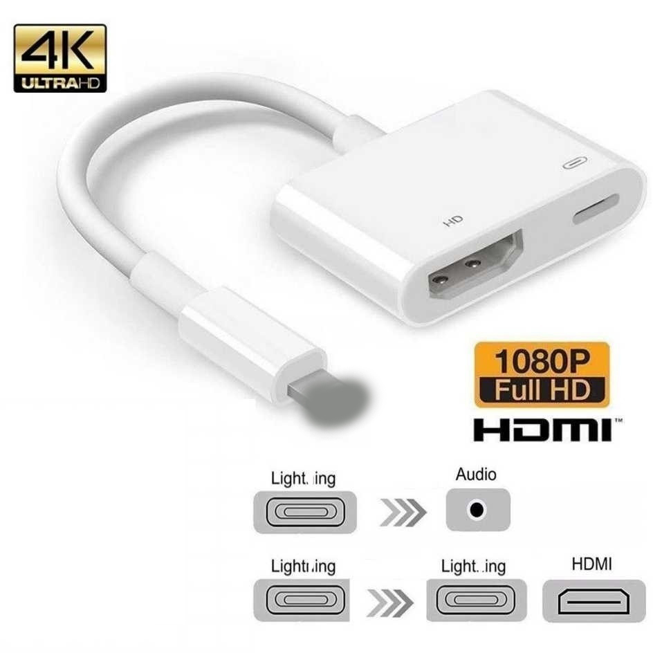 1080P HDMI Cable For Light-ning Male to HDMI Female Cable HD AV Adapter Cable Support for iPhone 11 XR X 8 7 6 Plus for iPad IOS