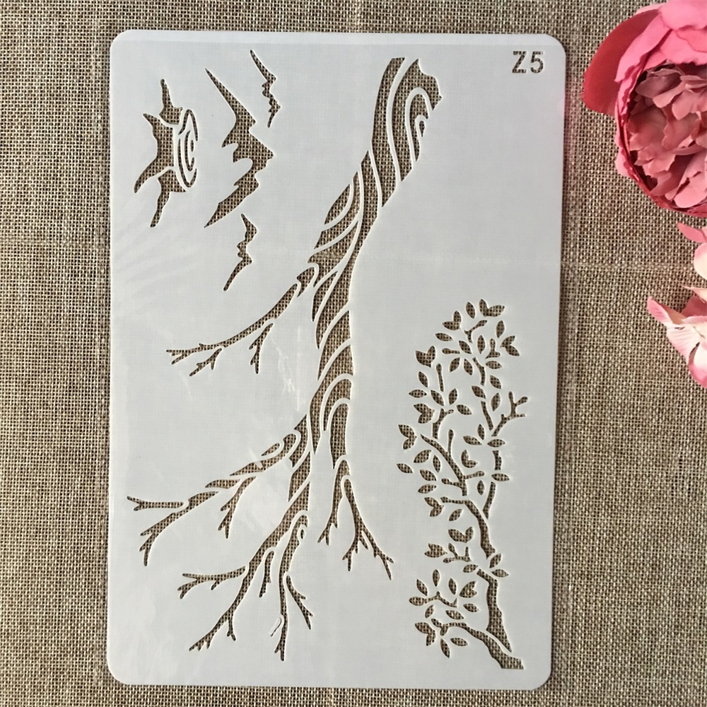 26cm Tree Branch DIY Layering Stencils Wall Painting Scrapbook Coloring Embossing Album Decorative Card Template