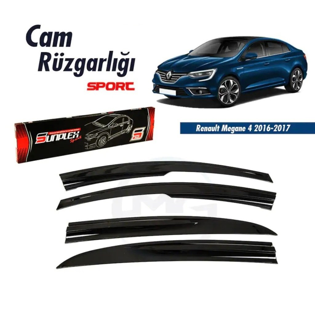 Rain Window Visor Wind Deflectors For Renault Megane 4 Accessories Sedan 2016 2017 Piano Black 4 Pcs