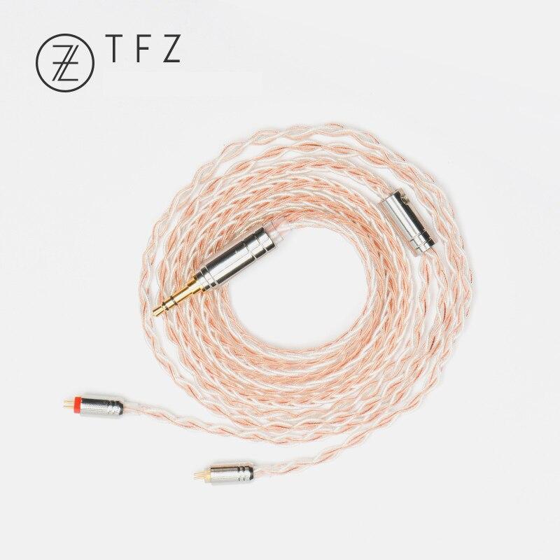 TFZ 3.5mm 4.4mm à 2 broches 0.78mm câble de mise à niveau argent plaqué monocristallin cuivre argent feuille câble équilibré