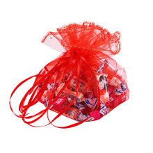 Diameter 42cm 39cm Wedding Candy Gifts Packaging Pouches Christmas Party Sequin Organza Bags Net Sandbags