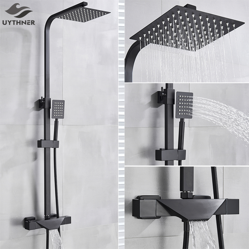 Bathroom Faucet Black Rain Shower Head