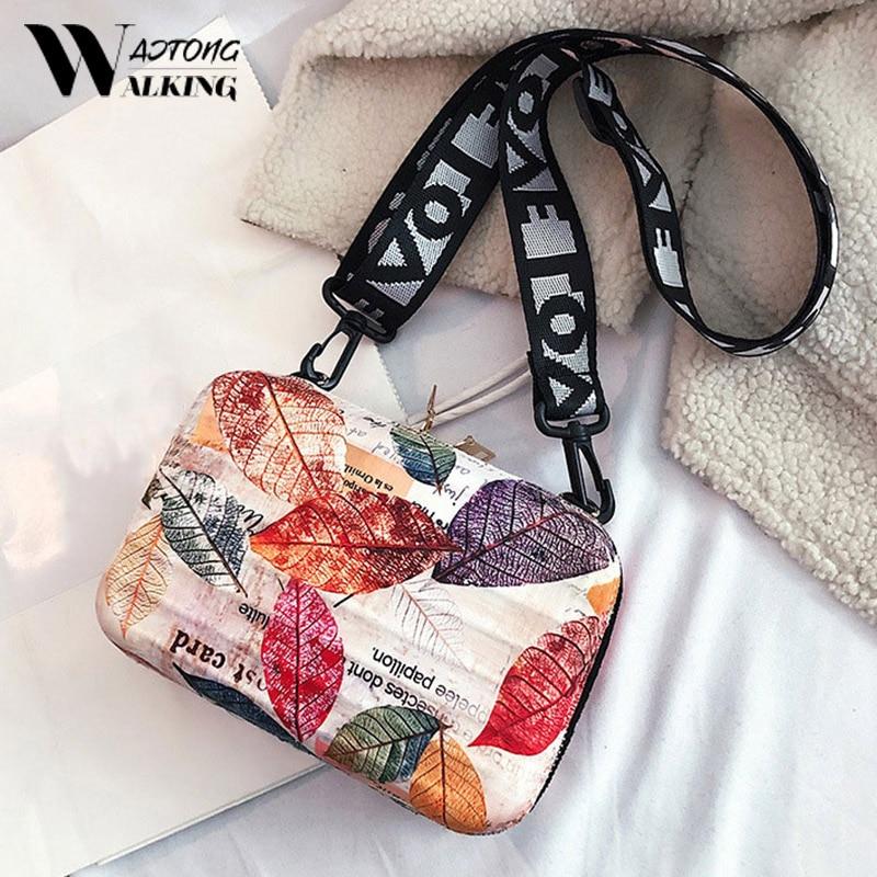 2020 New Personality Shoulder Clutch Mini Square Bag Box Bag Cartoon Color Packet Letter Wide Mini Suitcase Handbag Sac A Main
