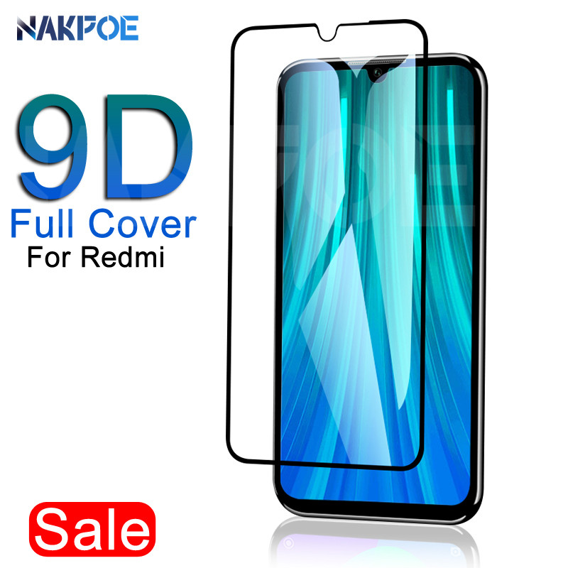 9D Protective Glass On The For Xiaomi Redmi 8 8A 7 7A 6A Go Tempered Screen Protector For Redmi 6 K20 Note 8 7 6 Pro Glass Film