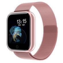 Steel Smartwatch Women Waterproof Smart Watch Men T80 Blueto