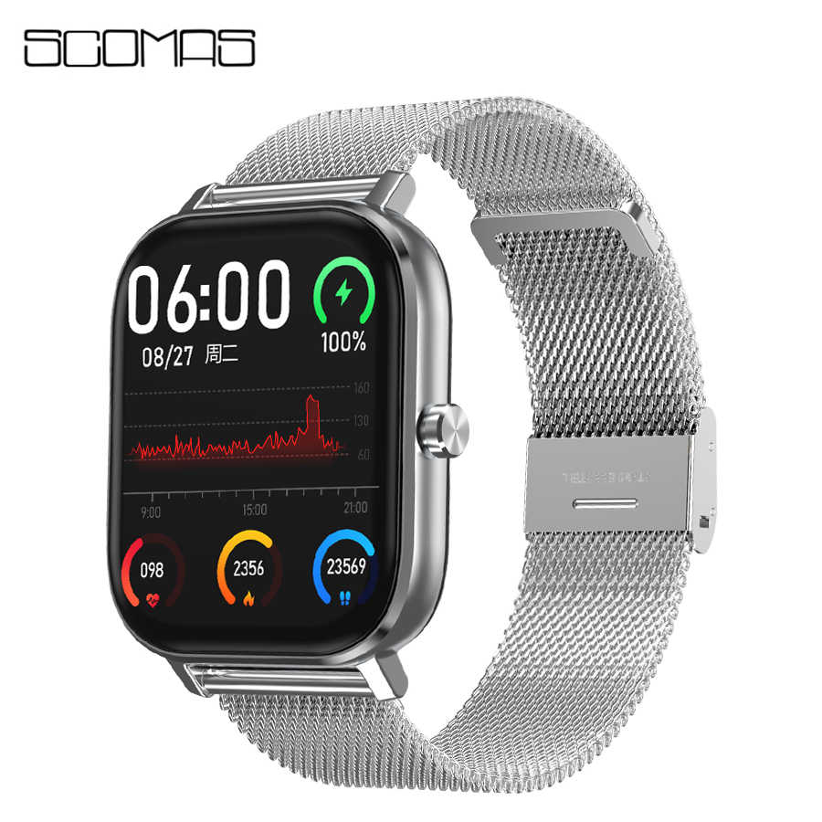 "SCOMAS DT35 Smart Watch 1.54 ""풀 터치 블루투스 통화 ECG 심박수 혈압 산소 모니터 For Android iOS Smartwatch"