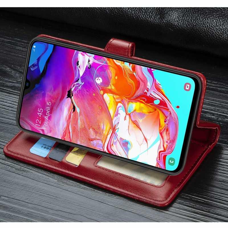الفاخرة الأعمال حافظة هاتف جلدية لسامسونج A70 حالة ل غالاكسي A70 مشبك محفظة بطاقة فليب حقيبة لهاتف سامسونج غالاكسي A70 غطاء