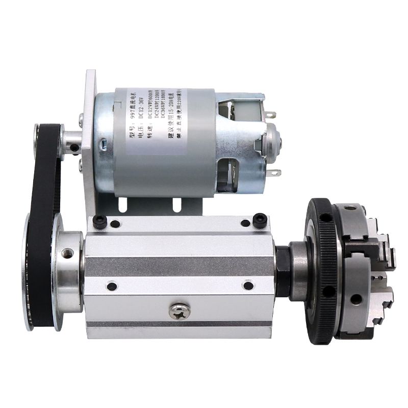 50/63 Mini Lathe Woodworking Beads Machine Spindle DIY Lathe / Bead Machine 50 Four-jaw / 63 Three-jaw Chuck Spindle Assembly