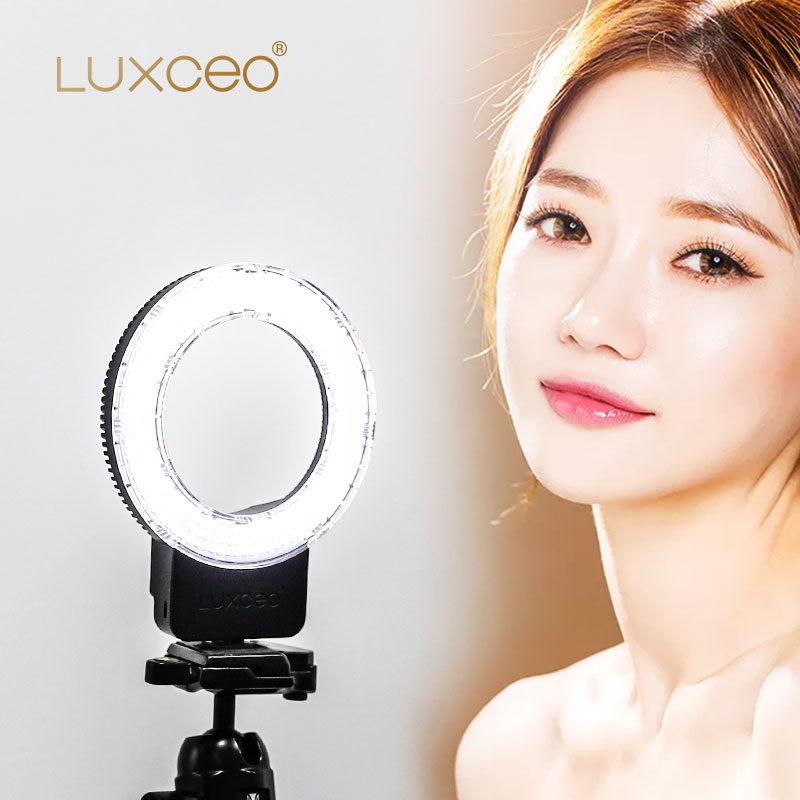 Купить с кэшбэком USB Rechargeable Camera Ring Light NEW Professional 7W 800LM makeup phone Stand Tripod Photography selfie Circle LED Ring Lights