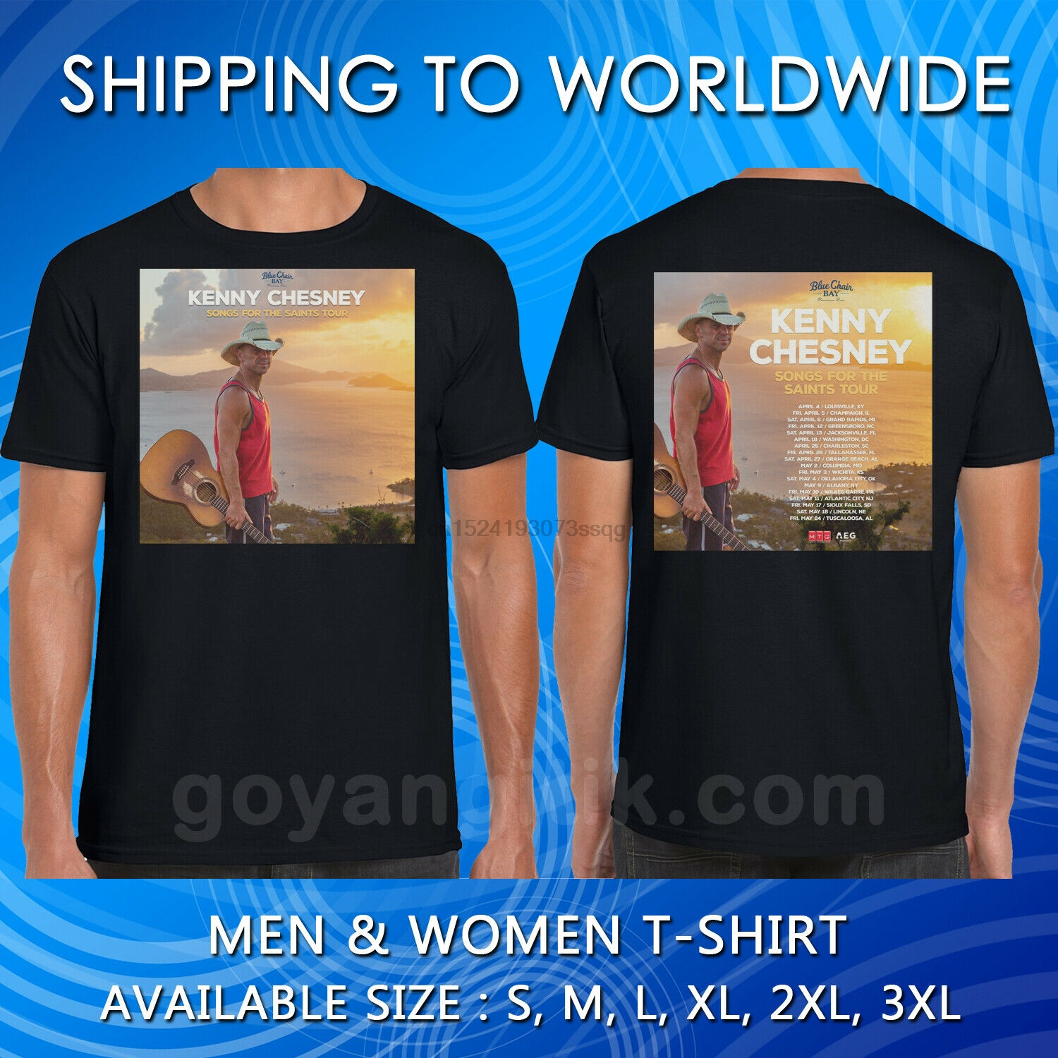 Kenny Chesney Tour 2019 Date T SHIRT SIZE S-5XL Brand New !!