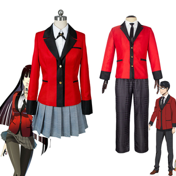 Anime Kakegurui Cosplay Costume Jabami Yumeko Cosplay Costume Japanese High School Uniform Girls Clothes Women Suits цена 2017