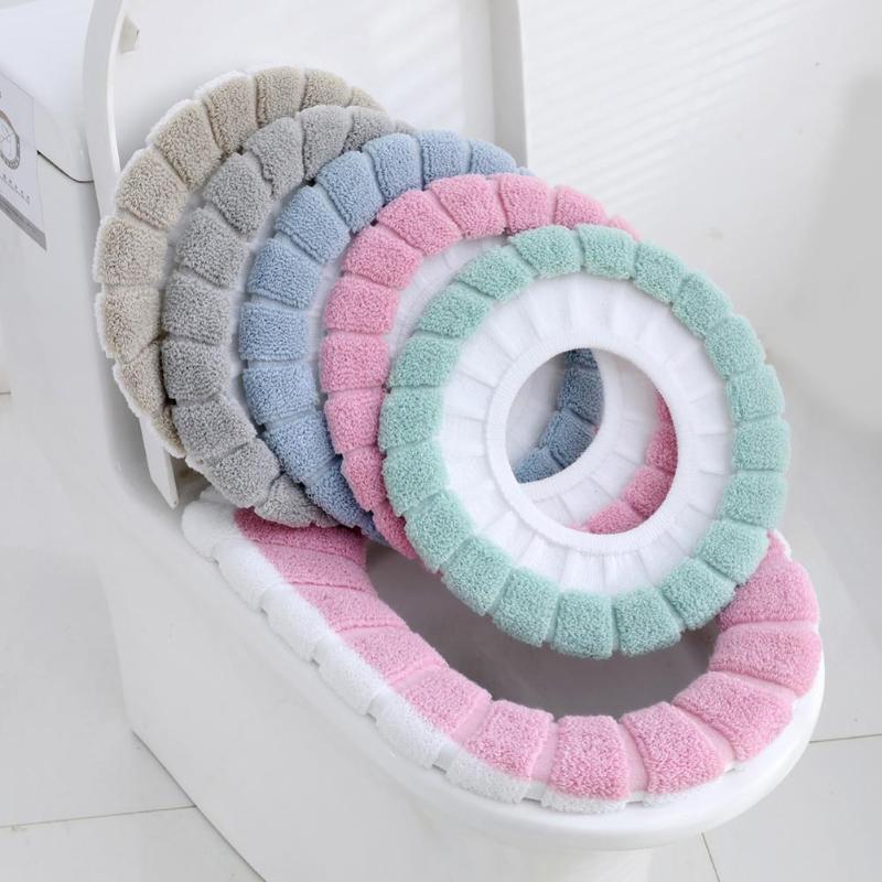 Warm Soft Washable สุขาที่นั่งฝาครอบชุดสำหรับตกแต่งบ้าน Closestool MAT ที่นั่งกรณีฝาปิดห้องน้ำอุปกรณ์เสริม