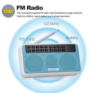 Image 2 - Rolton e500 fm rádio 6 w sem fio bluetooth alto falante portátil rádio digital fm estéreo de alta fidelidade tf music player com display led mic