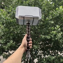 1:1 Thor Thunder Hammer Figure Weapons Model Thor's Hammer Cosplay Kids Gift Movie Role Playing Safety Toy PU Material 44cm avengers weapon superhero thor hammer full metal 1 1 mjolnir cosplay hammer thor odinson quake martillo collection model toy