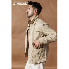 Simwood 2020 秋新貨物ジャケットファッション綿 100% 高品質生き抜くブランドの服プラスサイズコートSI980592