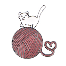 K1123 Cute Cat Enamel Pins Lapel Pin Fashion Cute Brooches Badge Denim Clothes Bag Pins Gift for Friends cute white cat enamel pins holding strawberry brooches denim clothes bag lapel pin animal jewelry gift for friends kids