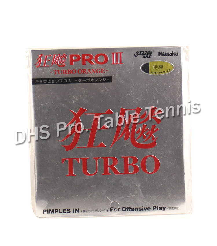 Table Tennis Rubber With Spong  Nittaku  PRO Hurricane 3TURBO Pimples In Rubber