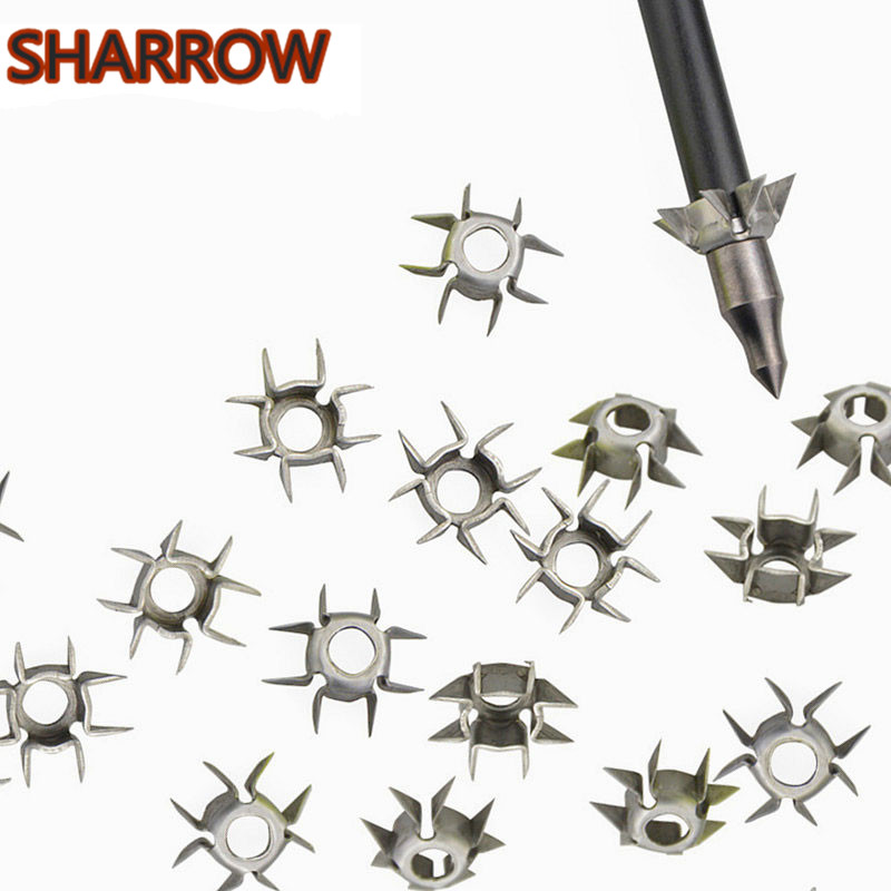 10/20/30/40/50pcs Target Points ID 6.2mm Arrowhead Broadhead Judo Arrow Points 8 Paw Point Outdoor Practice Archery Accessories
