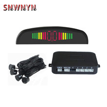 Car LED Parking Sensor Kit 4 Sensors For All Cars Reverse Assistance Backup Radar Monitor System Display