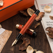 Jinhao 100 Centennial Resin Fountain Pen 18KGP Medium / Bent Nib 0.6 /1.2mm Golden Clip with Converter Business Office Gift Pen jinhao ancient grey two dragon playing pearl 18kgp nib fountain pen temple of heave