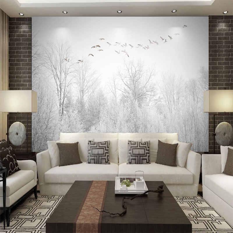 سلس خلفية لعبة الطائر المحلق الصنوبر الغابات سحابة نمط التلفزيون حائط الخلفية اللوحة