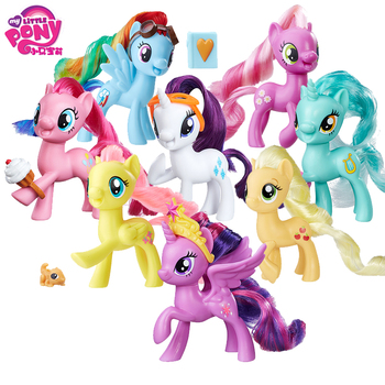 цены My Little Pony Toy Friendship is Magic Tempest Shadow Rainbow Lyra Heartstring Rarity PVC Action Figure Collection Model Doll