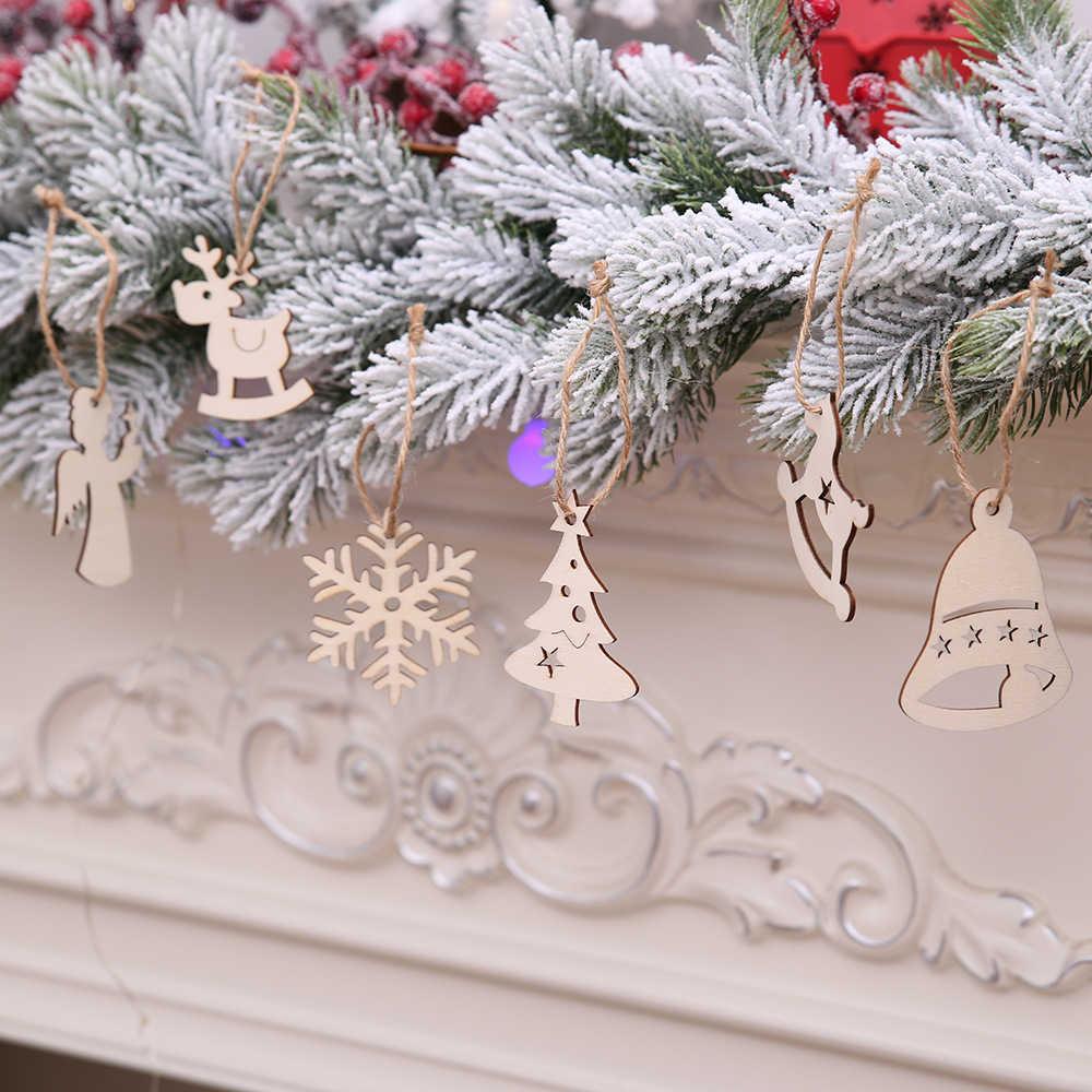 10 ชิ้น/ล็อตคริสต์มาสแขวนเครื่องประดับสไตล์น่ารัก Star จี้ไม้ Room ตกแต่งสำหรับคริสต์มาสสำหรับ Home PARTY