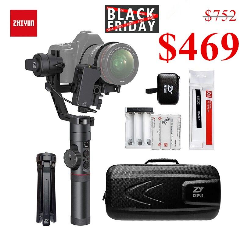 Zhiyun Crane 2 stabilisateur de cardan 3 axes pour tous les modèles de caméra sans miroir DSLR Canon 5D2/3/4 avec Servo suivi Focus