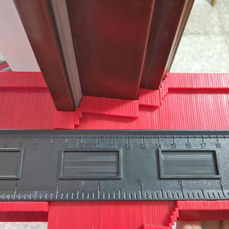 Woodworking Plastic Profile Gauge Copy Duplicator Contour Tile Excellent ABS Plastics Prolonged Durable Woodworking Tools