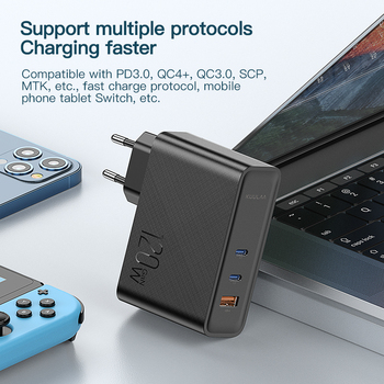 Устройство для быстрой зарядки KUULAA, 120 Вт, USB Type-C 4