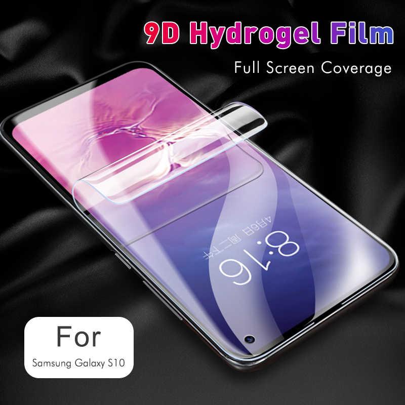 삼성 갤럭시 S20 울트라 S10 라이트 용 9D 하이드로 겔 필름 5G S9 S8 플러스 S10e 노트 10 라이트 프로 노트 9 8 Z 플립 s20 스크린 커버 필름