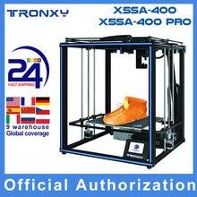 Tronxy-Impressora 3D X5SA/X5SA-400 alta precisão nova atualizada, kit diy 400*400 * 400mm, suporta auto nivelamento de reinício de impressão