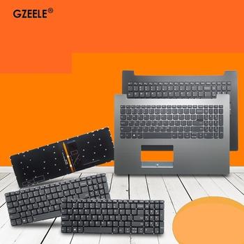 Angielska nowa klawiatura dla Lenovo IdeaPad 320-15 320-15IAP 320-15AST 320-15IKB 520-15ikb 7000-15 amerykańska klawiatura z osłoną na podparcie dłoni tanie i dobre opinie GZEELE CN (pochodzenie) US Standardowy 320S-15ABR