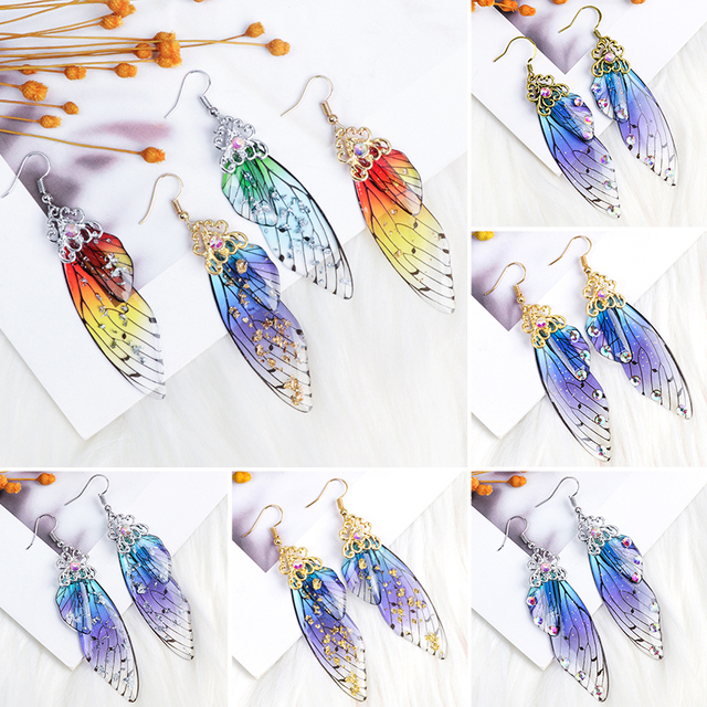 Butterfly Wing Shaped Dangle Earrings for Women