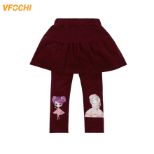 VFOCHI 2019 New Girls Leggings 16 Color Autumn Stretch Kids Girl Slim Capris Pants Cotton Dress Skirt-pants