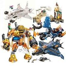 Avengers 4 Spider Man Stark Jet and Drone Attack Hydro-Man Molten 76130 Iron Venom Building Blocks Bricks Boy Toys