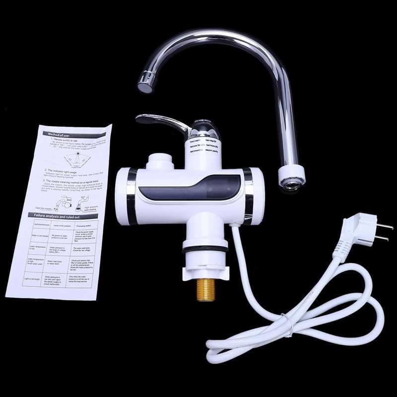Eu Stecker Elektrische Küche Wasser Heizung Wasserhahn Instant Heißer Wasser Wasserhahn Heizung Kalte Heizung Wasserhahn Tankless Momentanen Wasser Heate