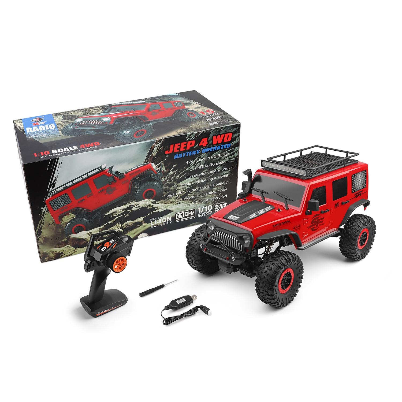 WLtoys 104311 RC Car 2,4G 1/10 4WD Jeep Car SUV, автомобиль с начесом, дистанционное управление, внедорожный гусеничный автомобиль, игрушки для детей