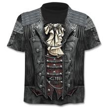 2020 Summer New 3d Skull T shirt Men Short sleeve shirt Funny T shirts   Punk Anime Gothic  3dT-shirt Mens Clothing
