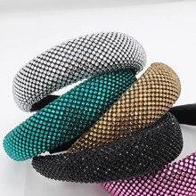 Новая Европейская и американская мода темпераментный цвет стразы индивидуальная огромная повязка на голову для путешествий дикая Повседневная повязка на голову 859