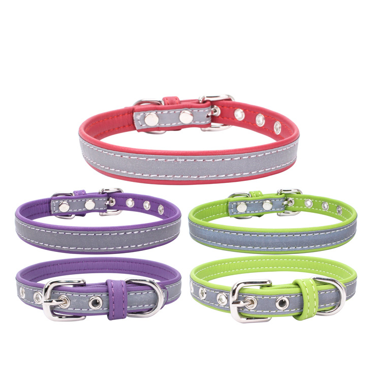 Jin Ling Jie New Style Pet Collar Reflective Neck Ring Microfiber Light Board Dog Neck Ring Comfortable Dog Chain Manufacturers