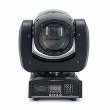 90w mini feixe movind cabeça luzes rgbw 4in1 super brilhante led dj luz de ponto controle dmx disco dj led movendo luzes da cabeça