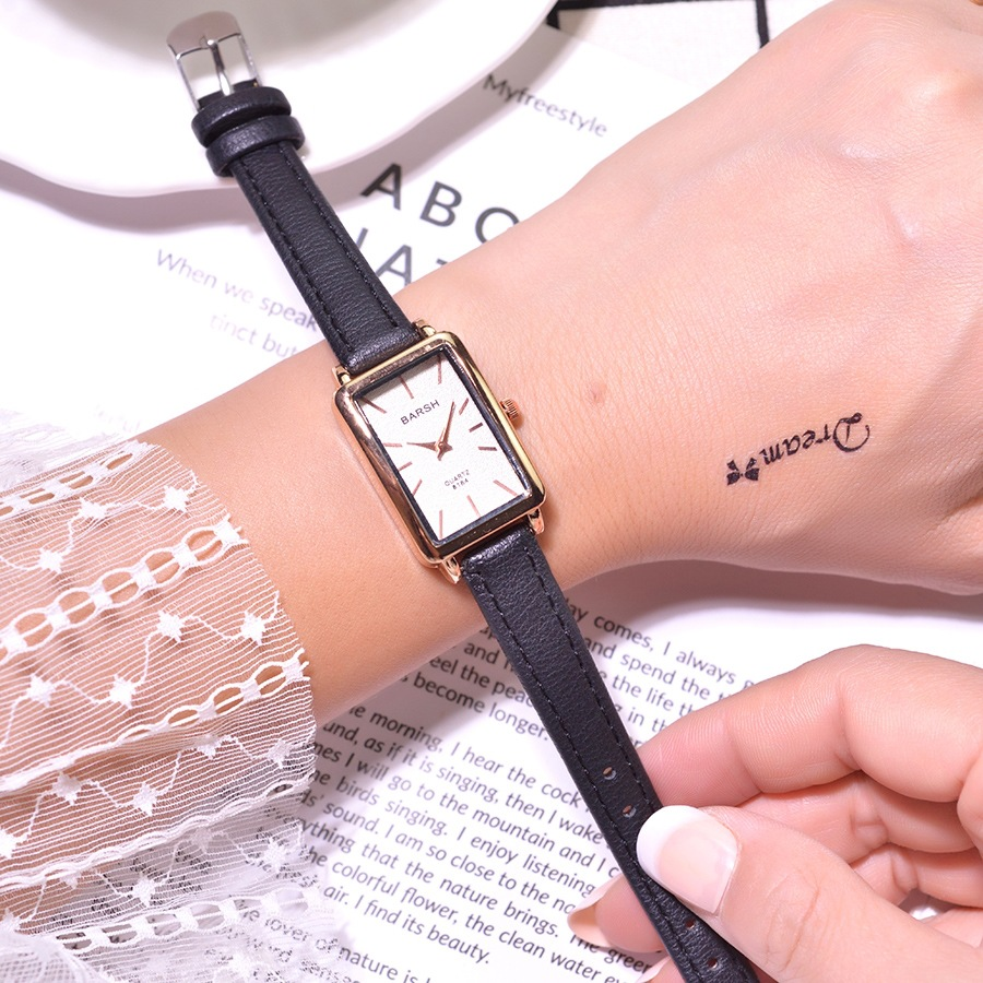 Fashion Rectangle Women Watches Qualities Ladies Wristwatches Quartz Leather Clock 2019 Bayan Kol Saati Female Dress Watch Gift