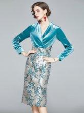 Zuoman женские роскошное жаккардовое платье festa высокого качества