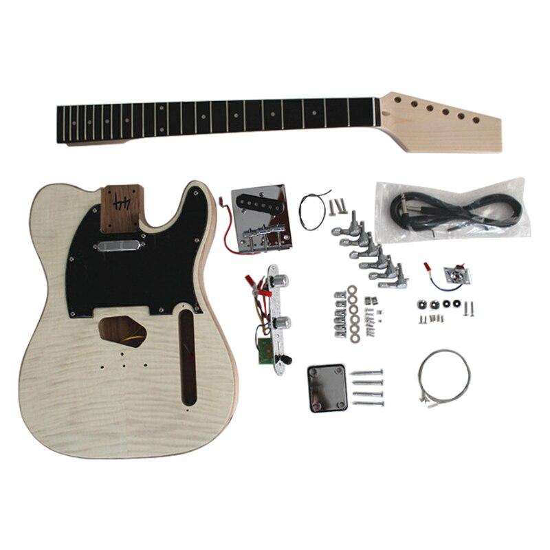 Aiersi marque Inachevé Solide corps en frêne Tele Style bricolage Kits De Guitare Électrique