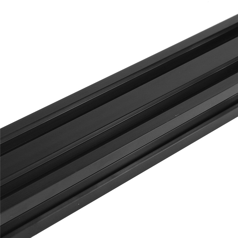 Iverntech 2pcs 300mm 2040 V Type European Standard Anodized Black Aluminum Profile Extrusion Linear Rail for 3D Printer and CNC DIY Laser Engraving Machine