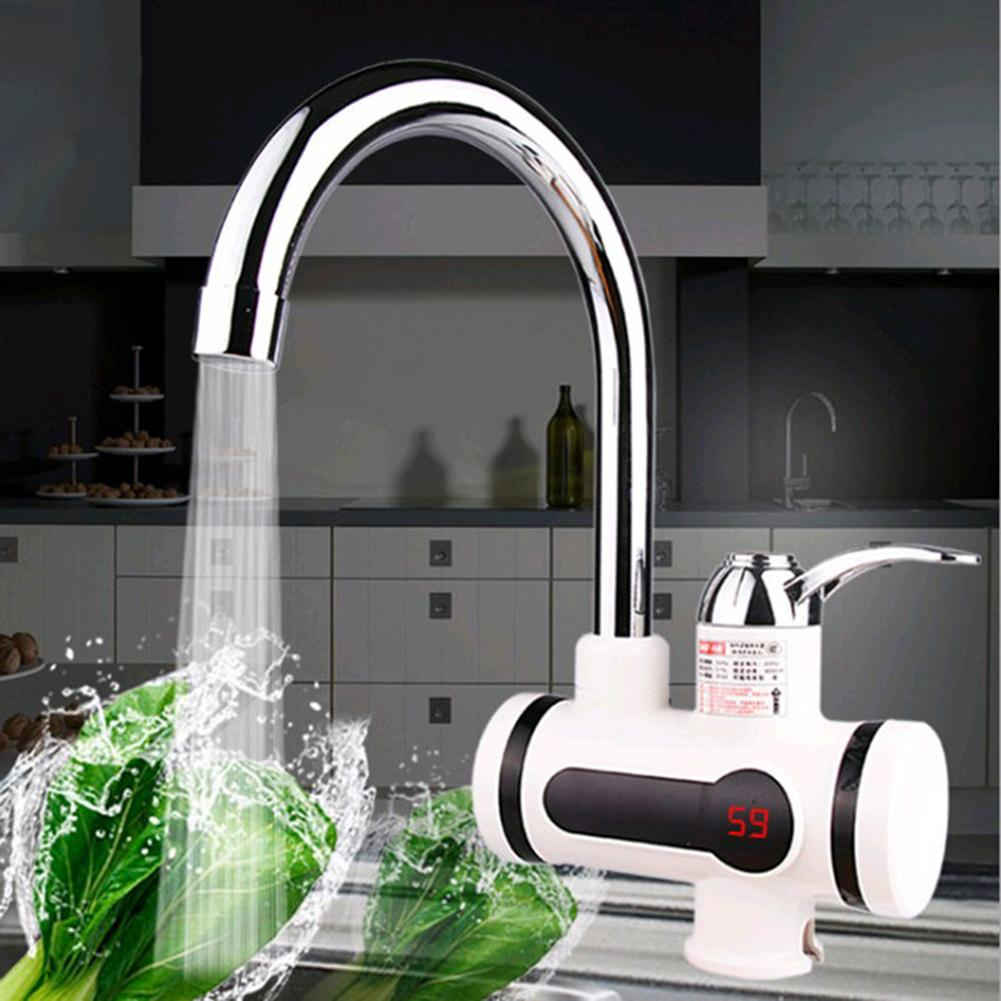 Digital Display Kitchen Tankless Electric Instant Heat Water Heater Tap Faucet